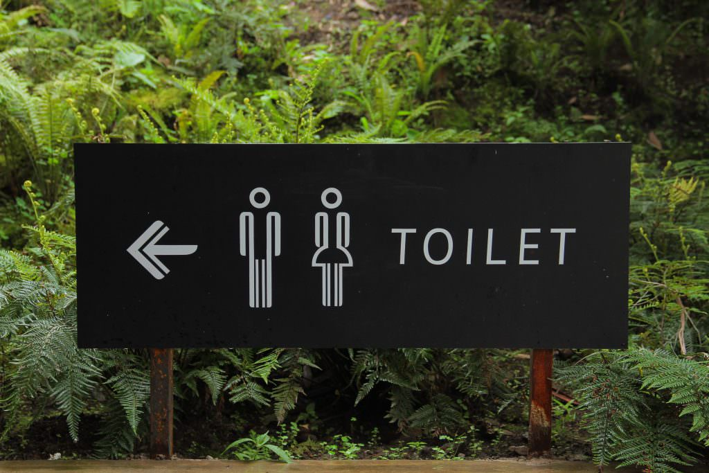 Directional signage for public toilets